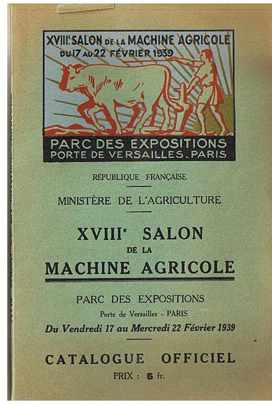 1939 18i me salon de la machine agricole for Salon de la machine agricole