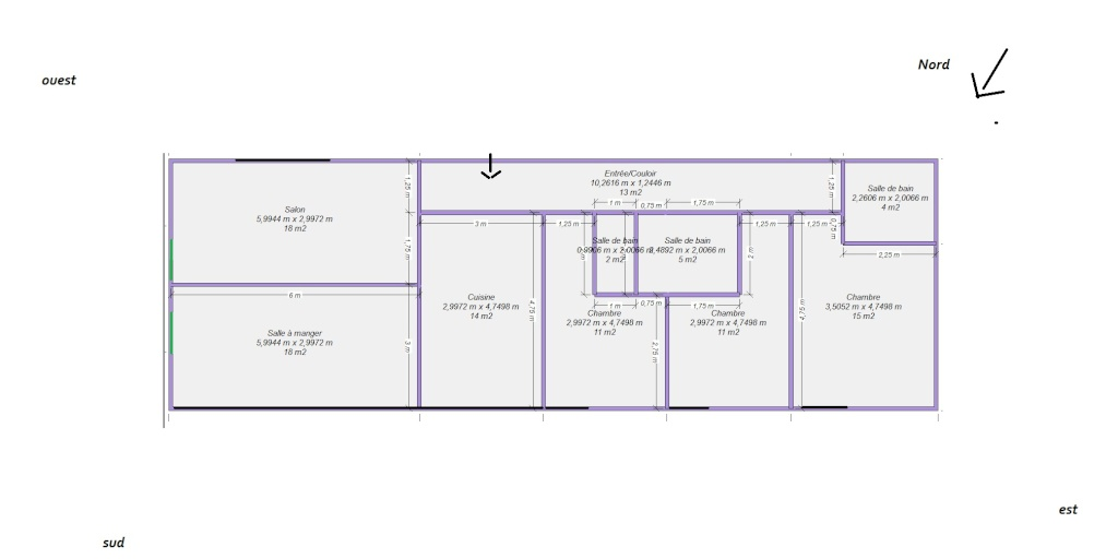 Avis sur mes plans de maison basse consommation 11 messages for Tarif architecte pour plan maison