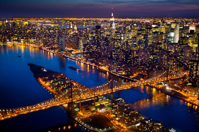 photos de new york by night
