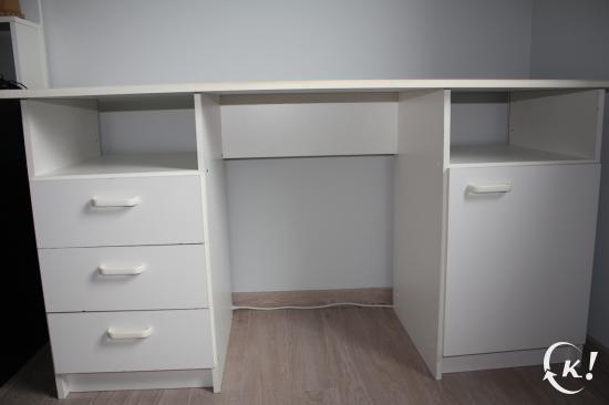 vend bureau blanc. Black Bedroom Furniture Sets. Home Design Ideas