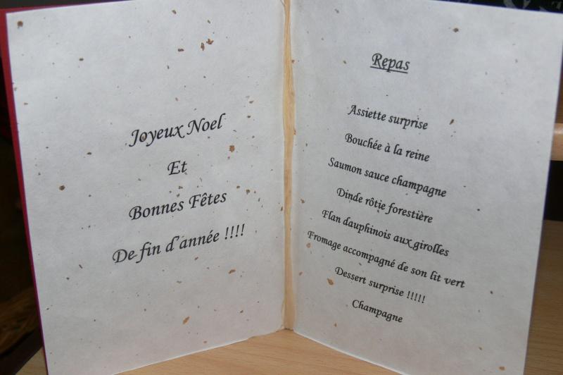 Le menu de noel for Babou troyes
