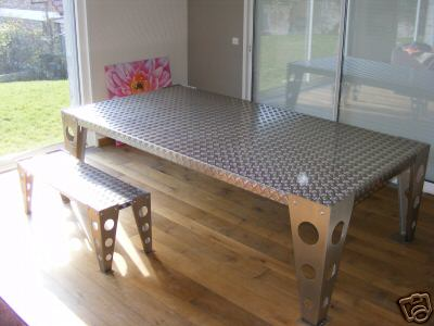 Une table au design industriel for Table design industriel