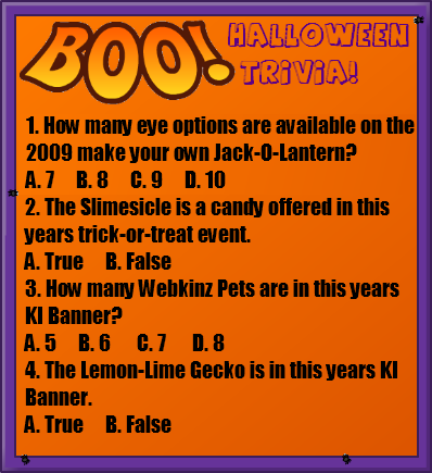 the prizes - Halloween Trivia With Answers