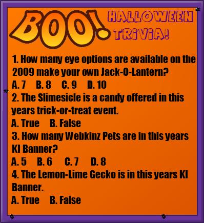 ki halloween trivia contest