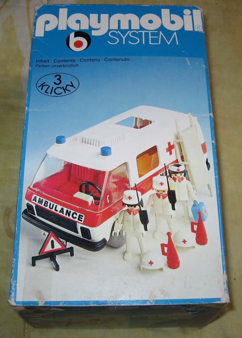vente ambulance playmobil vintage boite compl ter. Black Bedroom Furniture Sets. Home Design Ideas