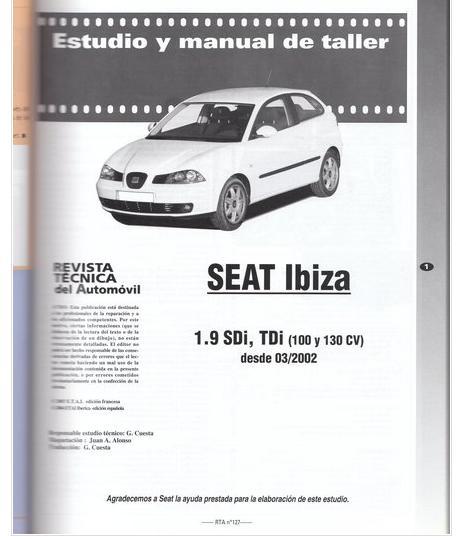 manual de taller seat ibiza cordoba 97 pdf gratis