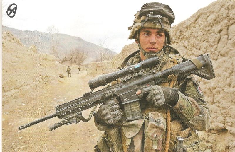 Fabuleux HK 417 en dotation dans l'armée française pour le sniper ,texte+  VY11