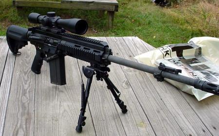 Souvent HK 417 en dotation dans l'armée française pour le sniper ,texte+  QU18
