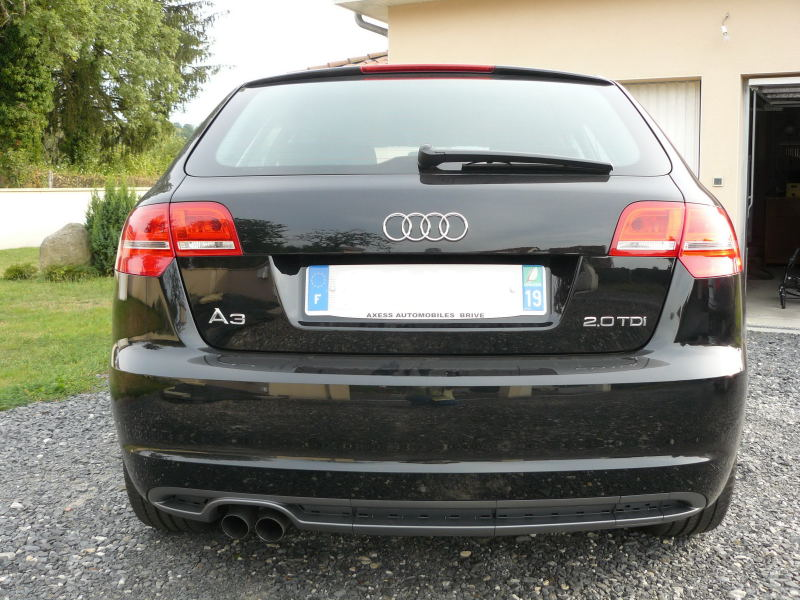 photo reportage audi a3 sportback 2 0 tdi ambition facelift noir. Black Bedroom Furniture Sets. Home Design Ideas