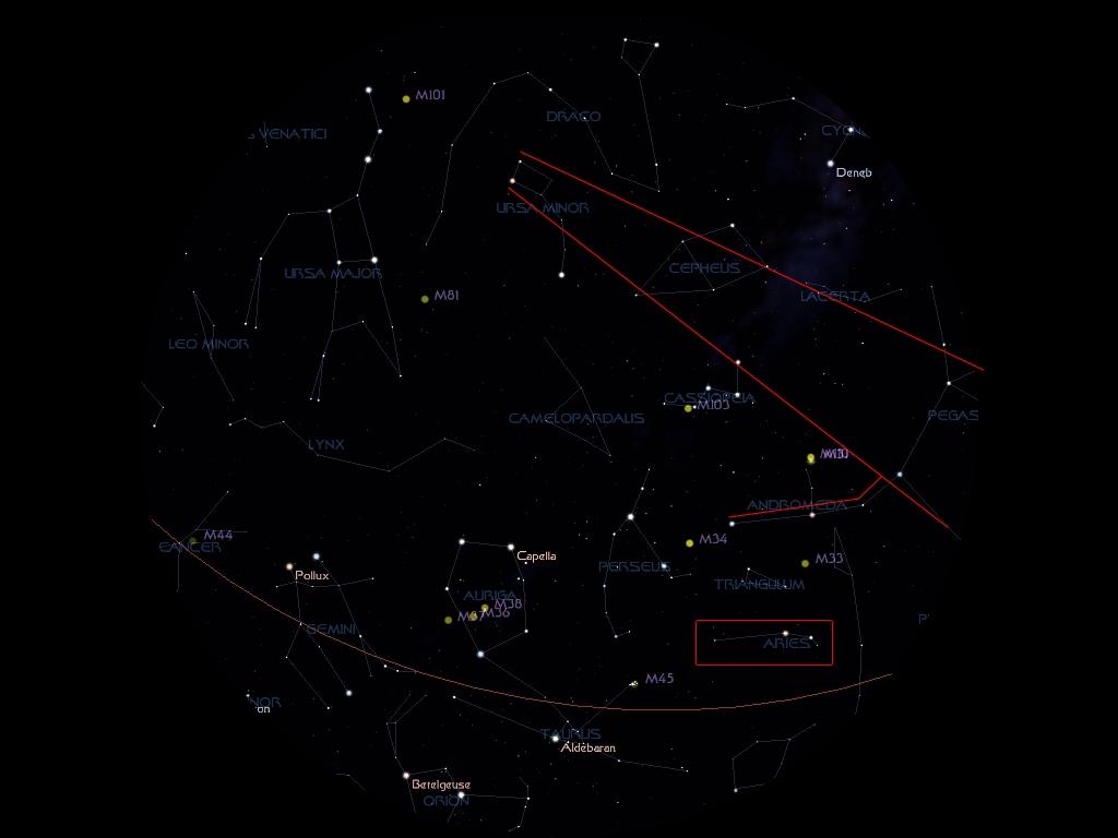 aries constellation within nebula - photo #21