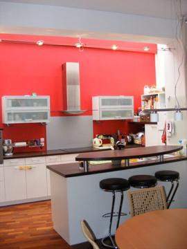Id es d 39 agencement pour cuisine page 7 for Cuisine blanche mur rouge